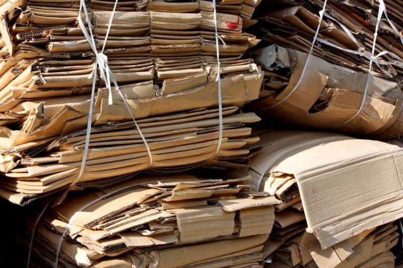 Recycling Scrap Cardboard